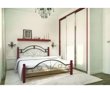 Ліжко металева Діана на дерев`яних ногах 140 Метал дизайн