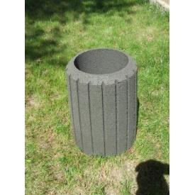 Урна уличная бетонная СЕРАЯ Н580 Д=300