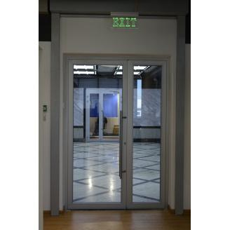 Алюминиевые распашные двери SY L45 (1200x2050мм)