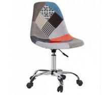 Дитяче крісло на колесах Астер м`яке сидіння колір печворк