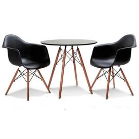 Обеденный стол и кресла SDM Лофт №60-black-2 для кафе