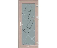 Металопластикові фасадні двері SP-09 1200х2050 мм Антрацит