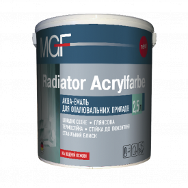 Эмаль акриловая для радиаторов MGF Radiator Acrylfarbe 2,5 л