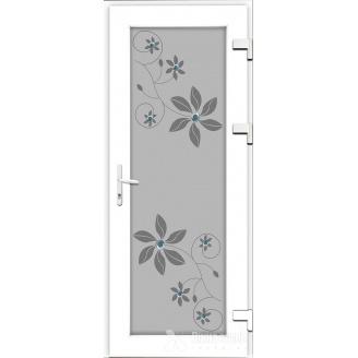 Металопластикові фасадні двері SP-05 900х2050 мм Золотий дуб