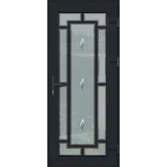 Металопластикові фасадні двері m-1194 1200х2050 мм Золотий дуб