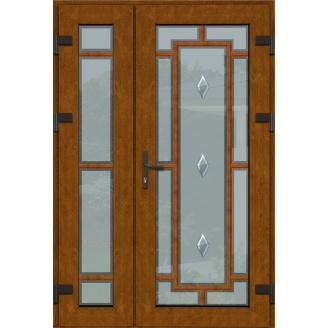 Металопластикові фасадні двері SP-23 2000х2050 мм Дуб Монтана
