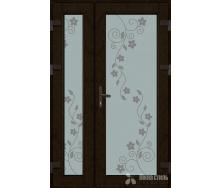 Металопластикові фасадні двері KR-13 1200х2050 мм Золотий дуб