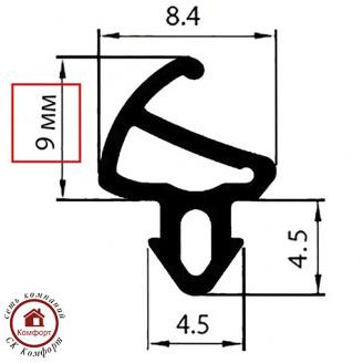 Ущільнювач для вікон Ado-06-9 мм