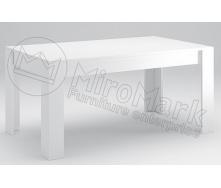 Стіл обідній Рома 160х95 білий глянець Миро-Марк