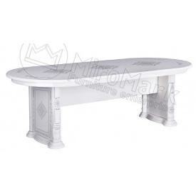 Стол обеденный Чикаго раскладной Белый глянец Миро-Марк