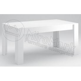 Стол обеденный Рома 160х95 белый глянец Миро-Марк