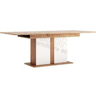Стіл обідній Асті розкладний 150х90 білий глянець / дуб крафт Миро-Марк