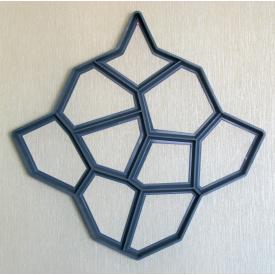 Пластиковая форма для садовой дорожки 60х60x6