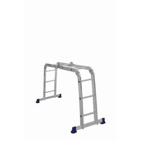 Четырехсекционная шарнирная лестница трансформер 2 х 2 + 2 х 3 ступени