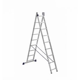 Лестница алюминиевая двухсекционная 2 х 9 ступеней (универсальная)