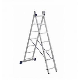 Лестница алюминиевая двухсекционная 2 х 7 ступеней (универсальная)