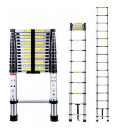 Лестница выдвижная телескопическая на 15 ступеней приставная