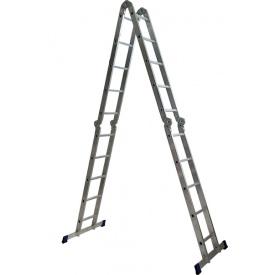 Алюминиевая четырехсекционная шарнирная лестница трансформер 4 х 5 ступеней