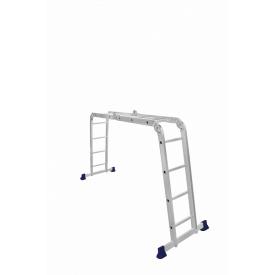 Лестница четырехсекционная шарнирная трансформер 2 x 3 + 2 x 4 ступени