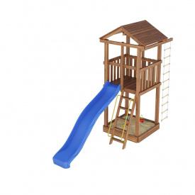 Деревянный детская площадка WOODEN TOWN №01 размеры: Д * Ш * В 4,4м * 1,2М * 3,5М