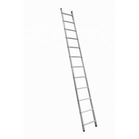 Алюминиевая односекционная приставная лестница на 12 ступеней (универсальная)