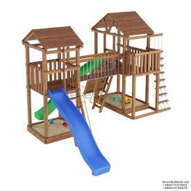 Деревянный детская площадка WOODEN TOWN №08 Д * Ш * В - 5,8м * 5,1м * 3,5М