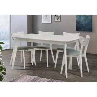 Стіл обідній Модерн Мікс меблі 150 (+40) х90 см бук білий