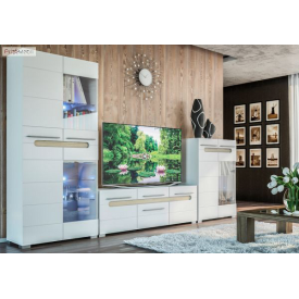 Гостиная Бьянко Мир мебели 185х310х40 см