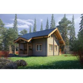 Будинок з профільованого бруса 140х180 мм Проект D-35 10,3 x 9,3 м