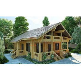 Будинок з оциліндрованої колоди 180 мм Проект D-25 10,9 x 10 м