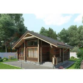 Будинок з профільованого бруса 140х180 мм Проект D-01 5,5 x 7,8 м