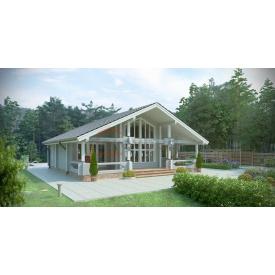 Будинок з профільованого бруса 140х180 мм Проект A-4 11,9 x 11,6 м