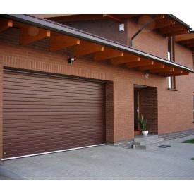 Гаражные секционные ворота 3000х2250мм коричневые Ral 8017)