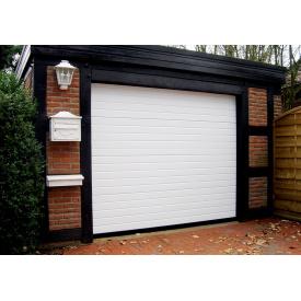 Ворота секционные гаражные Ryterna Литва 2500х2200 белые узкая вагонка