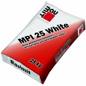 Штукатурка для внутренних работ белая Baumit MPI 25 25 кг
