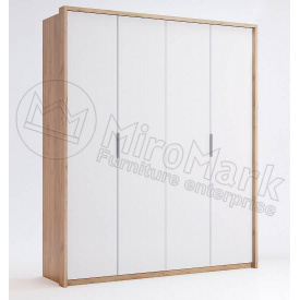 Шафа Асті 4Д без дзеркал дуб крафт + білий глянець Миро-Марк