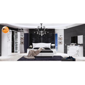 Спальня Богема 6Д білий глянець Миро-Марк