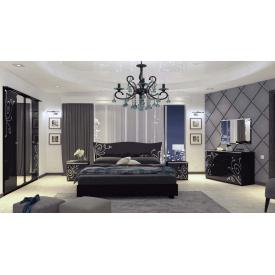 Спальня Богема 4Д чорний глянець Миро-Марк