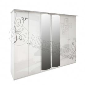 Шкаф Богема 6Д белый глянец Миро-Марк