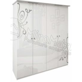 Шафа Богема 4Д без дзеркал білий глянець Миро-Марк