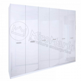 Шафа Белла 6Д без дзеркал білий глянець Миро-Марк