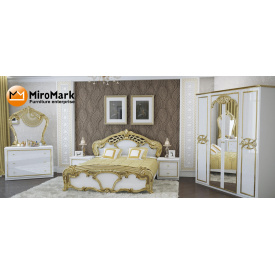 Спальня Ева 4Д белый глянец Миро-Марк