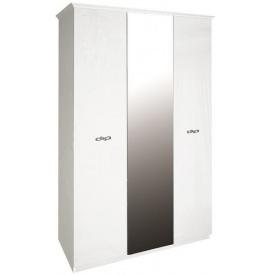 Шафа Прованс 3Д з дзеркалом білий глянець Миро-Марк