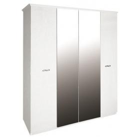 Шафа Прованс 4Д з дзеркалом білий глянець Миро-Марк