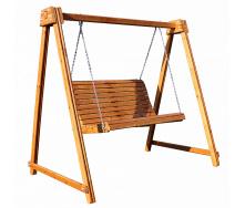 Садовая деревянная качель Babyland-10