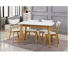 Стіл обідній Модерн Мікс Меблі 120 (+40) х75 см білий