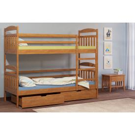 Дитяче двоярусне ліжко Алтея Camelia 90х200 Бук