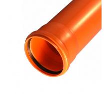 Труба для зовнішньої каналізації з НПВХ 200 / 3,9 / 1000 мм