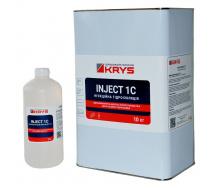 KRYS INJECT 1C - 1-компонентна поліуретанова ін'єкційна піна Комплект 10 кг + 1 л Розширення в 40 разів