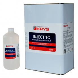 KRYS INJECT 1C - 1-компонентная полиуретановая инъекционная пена Комплект 10 кг + 1 л Расширение в 40 раз